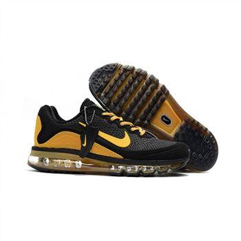 3f9e233ae Mens Nike Air Max 2017.5 Shoes Black Yellow