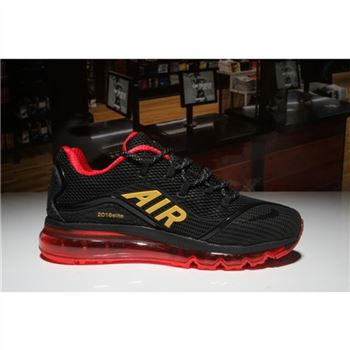 Nike Air Max 2018 Elite Black Red Gold Mens Shoes