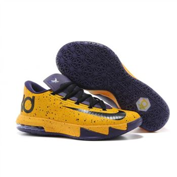 best deals on e8b75 ef959 Mens Nike Zoom KD 6 MVP Purple Yellow