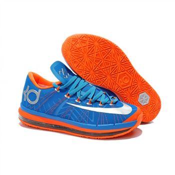 buy popular 371c5 0f78b Mens Nike KD 6 Elite Blue Silver Orange