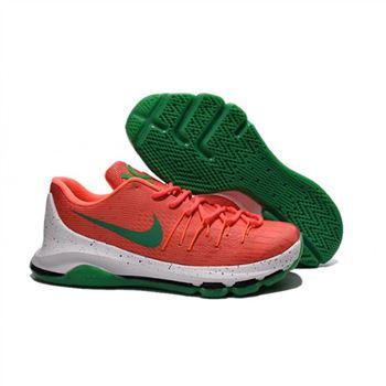 7015e65f192 Mens Nike KD 8 Basketball Shoes Red White Green